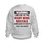 Right Wing Radical Kids Sweatshirt