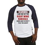 Right Wing Radical Baseball Jersey