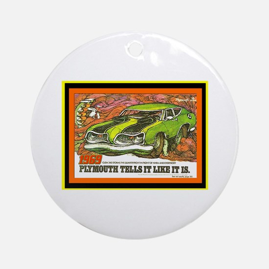 """1969 Barracuda"" Ornament (Round)"