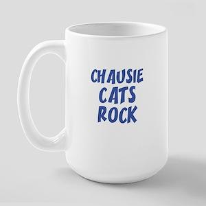 CHAUSIE CATS ROCK Large Mug