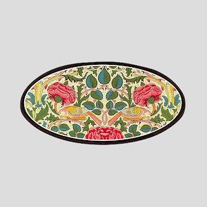 Rose Chintz Pattern Colorful Damask Pattern Patch