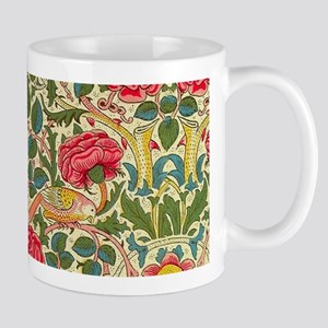 Rose Chintz Pattern Colorful Damask Pattern Mugs