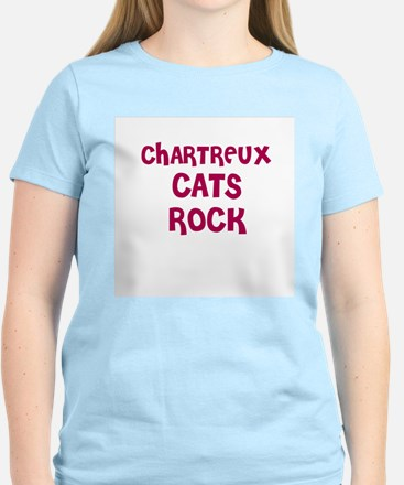 CHARTREUX CATS ROCK Women's Pink T-Shirt