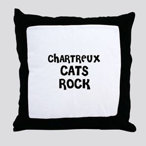 CHARTREUX CATS ROCK Throw Pillow