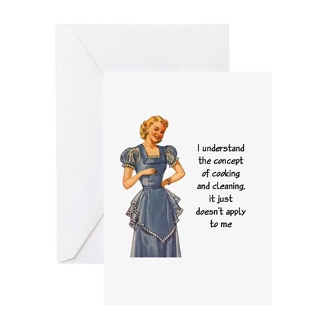 COOKING AND CLEANING Greeting Card