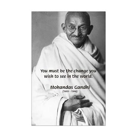 Loyalty to Cause: Gandhi Mini Poster Print