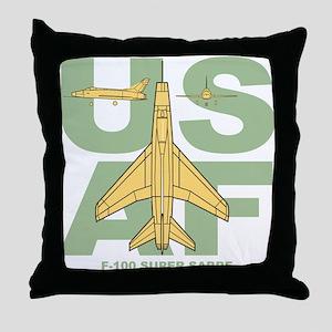 F-100 Throw Pillow