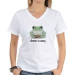 Green is Sexy Women's V-Neck T-Shirt