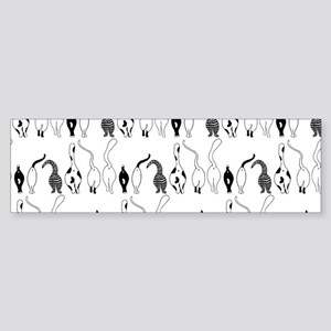 Cat Butts Pattern Bumper Sticker