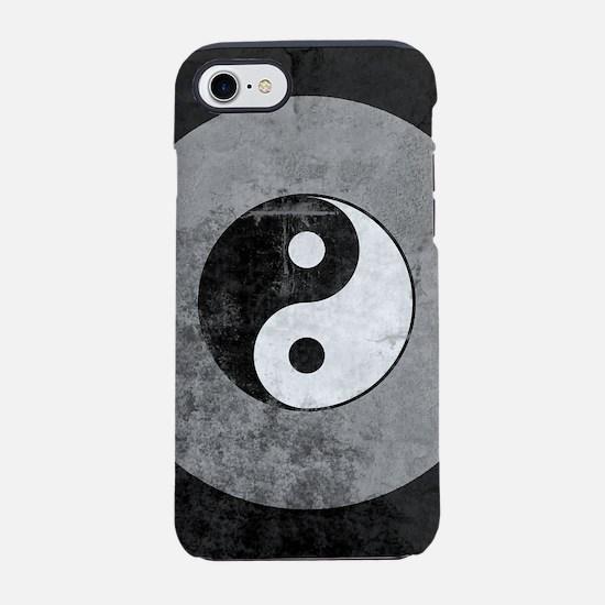 Distressed Yin Yang Symbol iPhone 7 Tough Case
