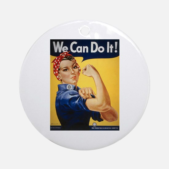 Rosie Riveter We Can Do It Ornament (Round)