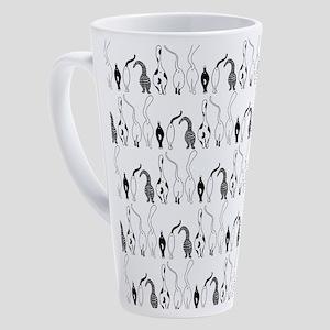 Cat Butts Pattern 17 oz Latte Mug