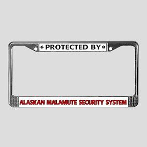 Alaskan Malamute Security License Plate Frame