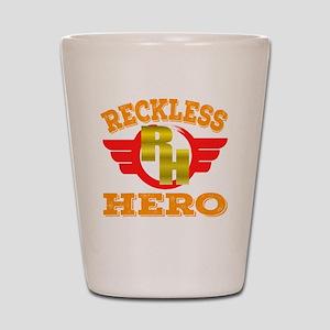 """Reckless Hero"" tee design fo Shot Glass"