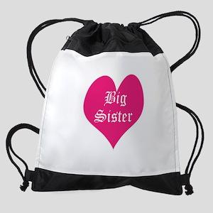 Big Sister, heart, Drawstring Bag