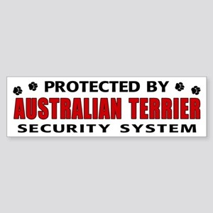 Australian Terrier Security Bumper Sticker
