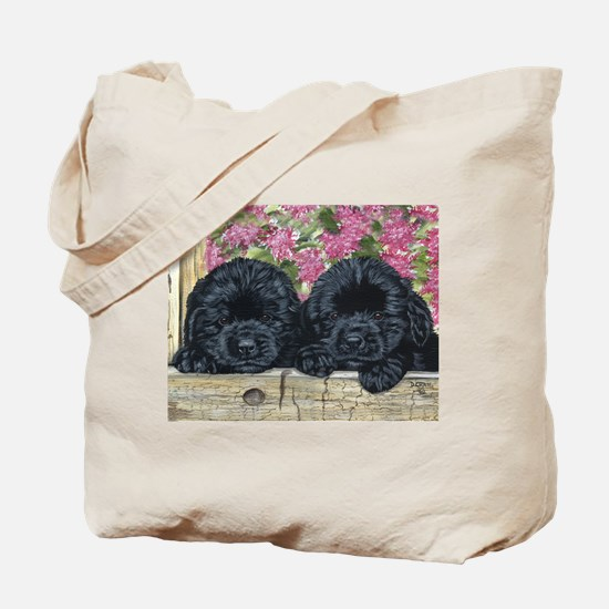 Cute Black newfie Tote Bag
