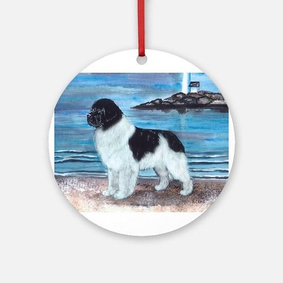 Newfoundland Landseer Dawn Pa Ornament (Round)