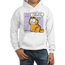 Never Trust a Smiling Cat Hooded Sweatshirt