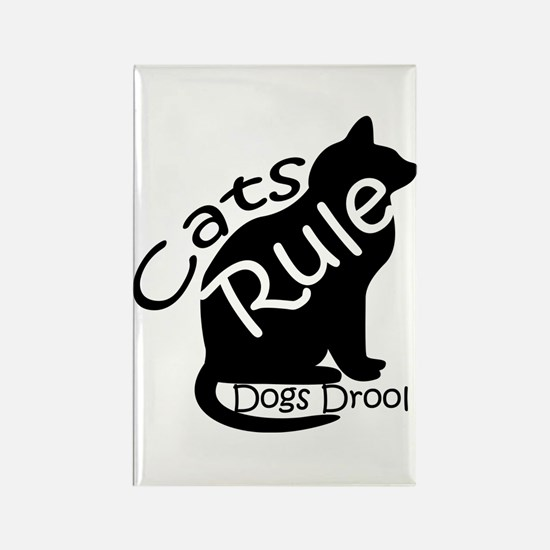 Cats Rule Rectangle Magnet