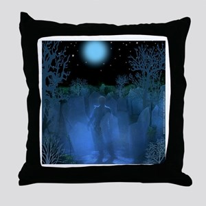 Graveyard Ghost Throw Pillow