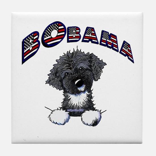 BObama 1st Dog PWD Tile Coaster