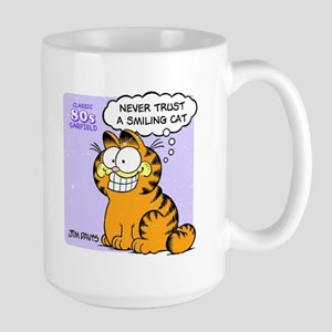 Never Trust a Smiling Cat Large Mug