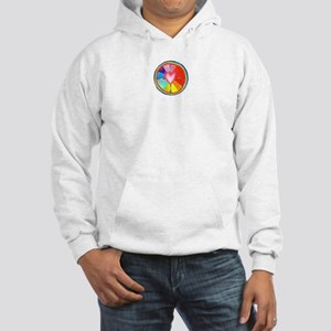 Rainbow Heart Mandala Hooded Sweatshirt