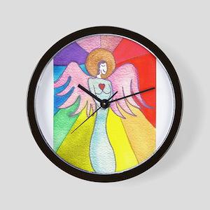 Rainbow Ray Angel Wall Clock