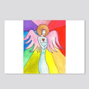Rainbow Ray Angel Postcards (Package of 8)