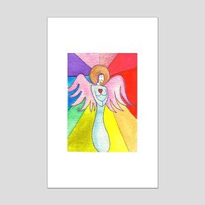 Rainbow Ray Angel Mini Poster Print