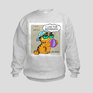 I Live For Weekends Kids Sweatshirt