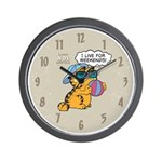 I Live For Weekends Wall Clock