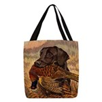 Vintage Lab Hunt Art Polyester Tote Bag