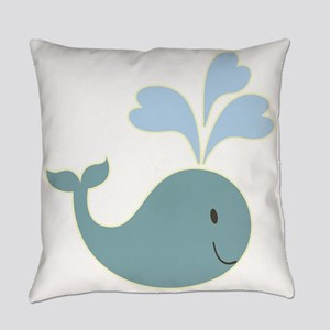 Cute Whale Everyday Pillow