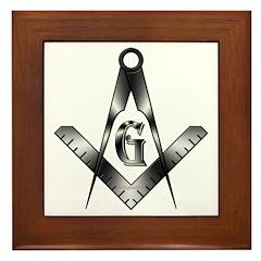 The Free Mason Framed Tile