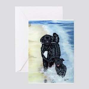 Newfoundland Surf Runner Greeting Card