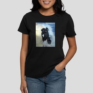 Newfoundland Surf Runner Women's Dark T-Shirt