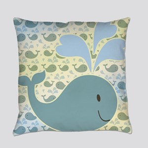Cute Whale Design Everyday Pillow