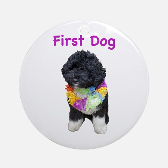 Bo First Dog Ornament (Round)