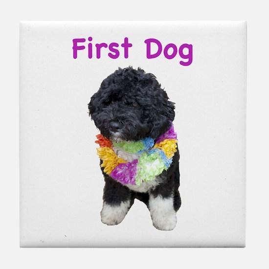 Bo First Dog Tile Coaster