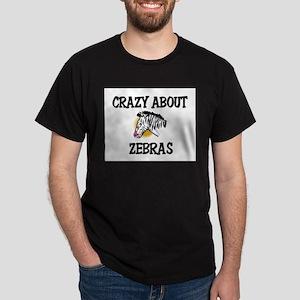 Crazy About Zebras Dark T-Shirt