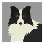 "Border Collie Square Car Magnet 3"" x 3"""