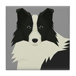 Border Collie Tile Coaster