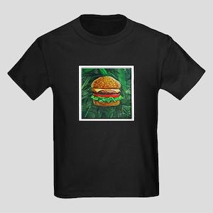 Tropical Cheeseburger Kids Dark T-Shirt