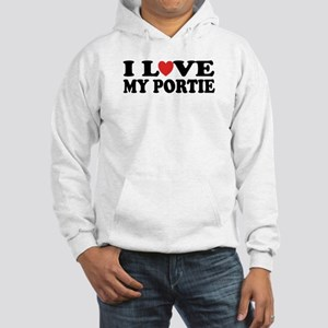 I Love My Portie Hooded Sweatshirt