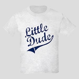 LITTLE DUDE (Script) Kids Light T-Shirt