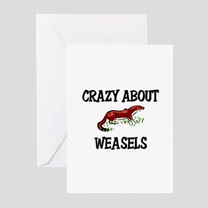 Crazy About Weasels Greeting Cards (Pk of 10)