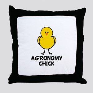 Agronomy Chick Throw Pillow