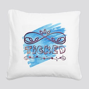 Ticked Square Canvas Pillow